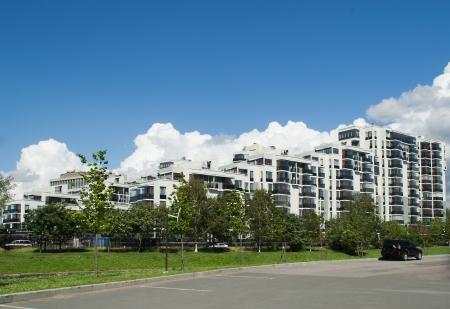 Casa moderna bonita no Saint-Petersburg R�ssia Editorial