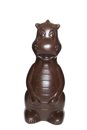 Chocolate figure in white background Banco de Imagens