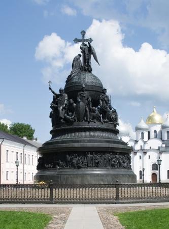 Monument of Millennium in Great Novgorod, Russia