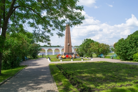 Monument to the heroes at Yaroslav Banco de Imagens