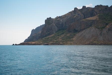 Vista na montanha de Karadag do mar, Crimeia, Ucr�nia