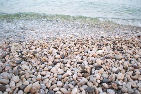 pebbles on the seashore  Banco de Imagens