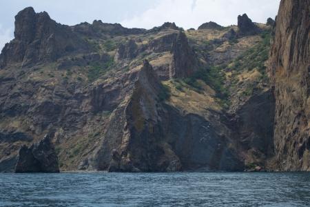 The view on Karadag rock in %u0421rimea, Ukraine   photo
