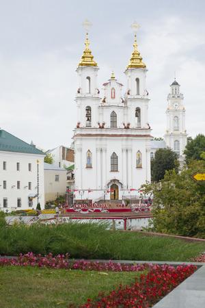Resurrection Church in Vitebsk city, Belarus resurrection square, 1