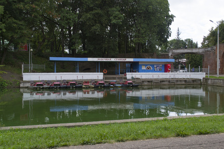 boating: boating station in Smolensk park, Russia