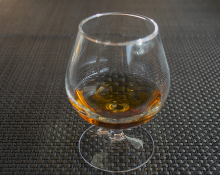 Cognac in glass themself