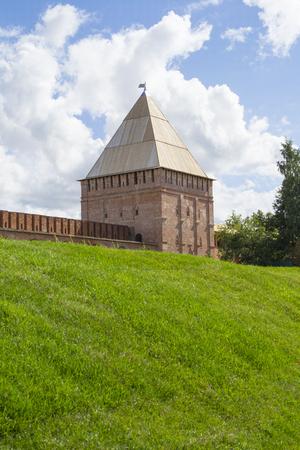 Smolensk, Russia - September 02, 2013  - Smolensk fortress wall with the Avraamiev gates Editorial