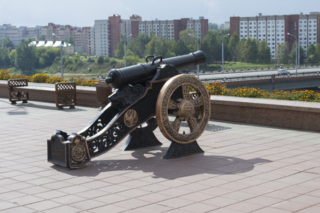 Old cannon in Vitebsk, Belarus Editorial