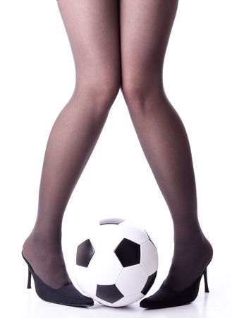 long stockings: soccer legs