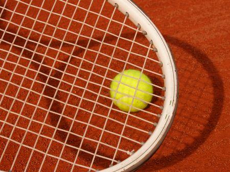 racket shadow ball clay photo