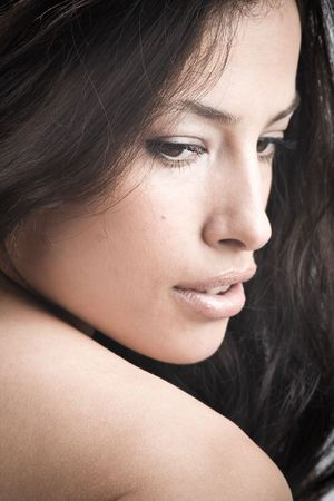close up portrait  of a beautiful woman  Stock Photo - 3388997