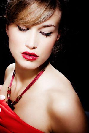sensual young woman portrait Stock Photo - 4968466