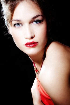 blue eyes blond woman elegant portrait Stock Photo - 4972394