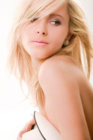 sensual blond woman portrait