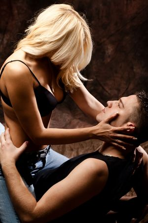 sex activity: young couple in love Stock Photo