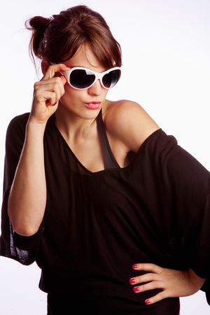 young woman with sunglasses Stock Photo - 6156345