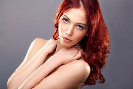 redhair: red hair young woman beauty portrait Stock Photo