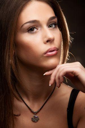 young woman portrait, studio shot Stock Photo - 6597142