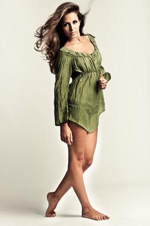 young beautiful woman studio shot photo