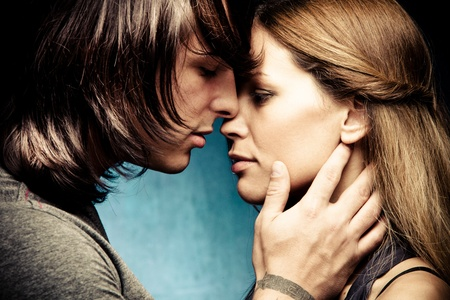 young couple: beautiful young couple in love Stock Photo