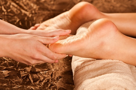 foot massage technique Stock Photo - 13385630