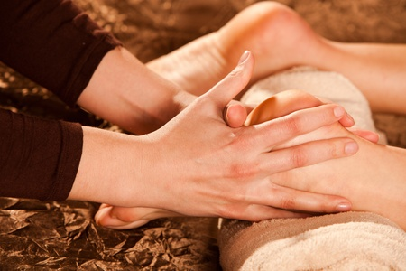 foot massage technique Stock Photo - 13385557