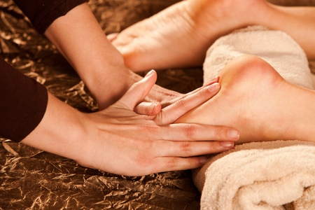 foot massage technique Stock Photo - 13385634