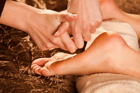 foot massage technique Stock Photo - 13385631