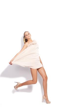 Short dress in motion