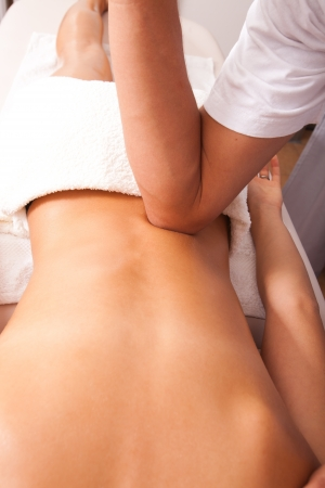 lower back acupressure massage technique photo