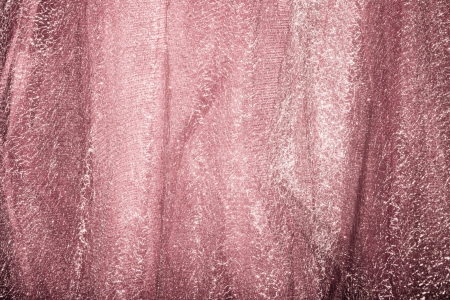tulle: abstract tulle and shiny lame fabric studio shot Stock Photo