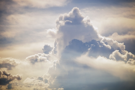 cloud formation: summer day sky with  clouds formation Stock Photo