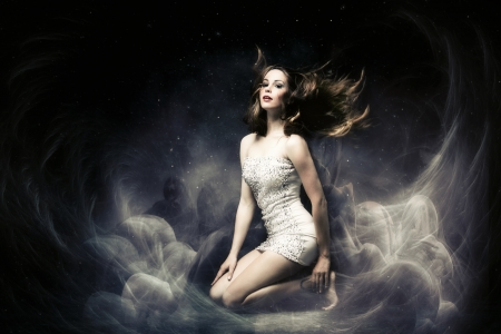 haze: beautiful fairy like fantasy woman  Stock Photo