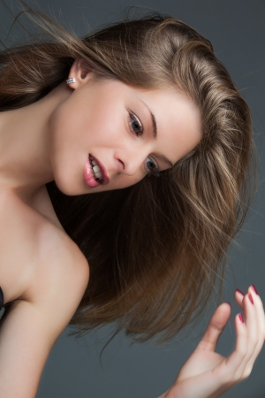 natural blond  beauty  woman studio shot photo