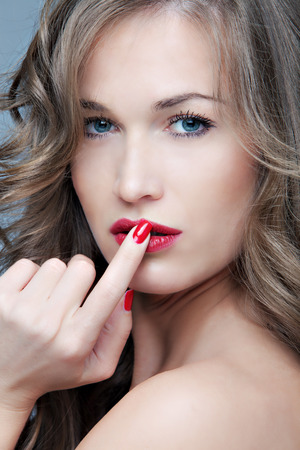 bionda occhi azzurri: naturale biondo, occhi azzurri bellezza donna faccia