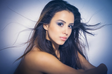 perfect nourished young woman beauty portrait photo
