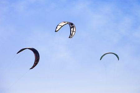 kitesurf: kitesurf wings against blue sky