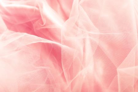美しいピンクのチュールの背景