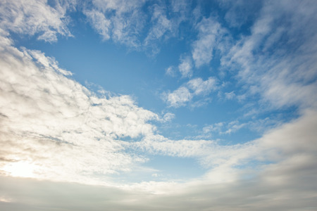 clime: wide blue sky with clouds