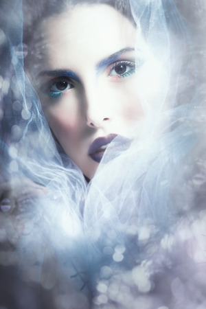fantasy woman portrait with veil