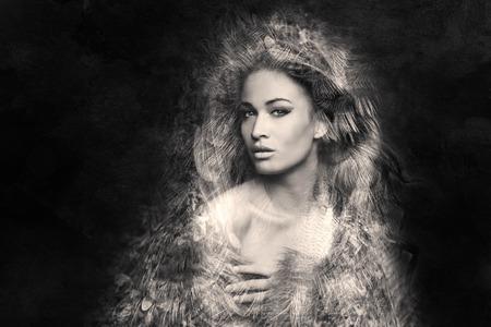 fantasy woman portrait composite photo