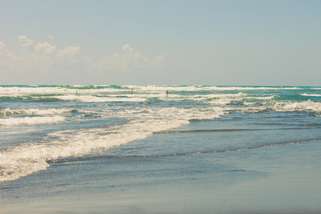 pastel colors: beautiful sandy beach in pastel colors sunny summer day