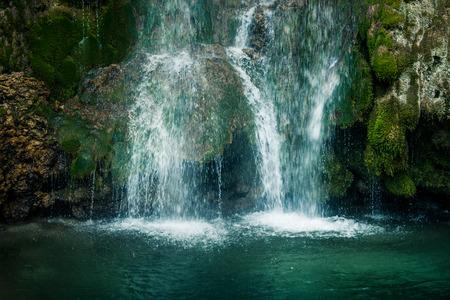 schöner Wasserfall Veliki Buk, Lisine in Serbien, Osteuropa