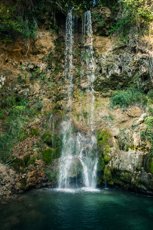beautiful waterfall Veliki Buk, Lisine in Serbia, East Europe Lizenzfreie Bilder