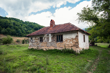 abandoned old house in rural  mountain region