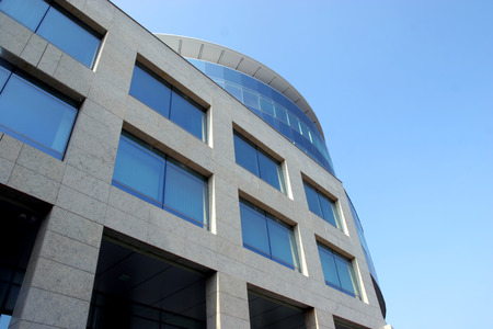 New modern glass office building
