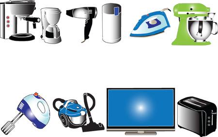 home appliances: electrodom�sticos collection - vector