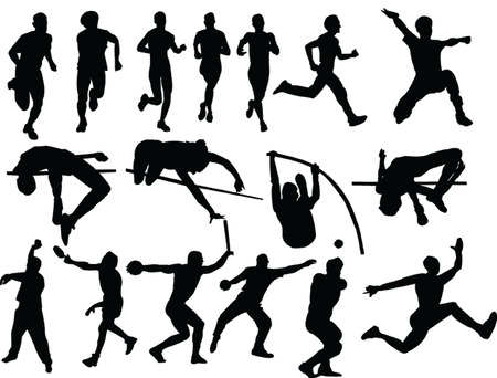 athletics collection silhouette - vector Vector