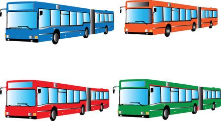 autobus silhouette - vector Vector