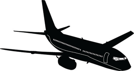airlines:  airplane - vector Illustration